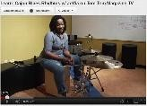 JoVia teaching blues rhythms on the Cajon